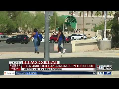 Teen arrested for allegedly bringing gun to Green Valley High School