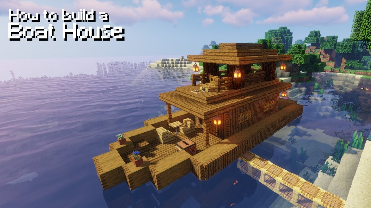 Minecraft: How to Build a Boat House  Simple Tutorial