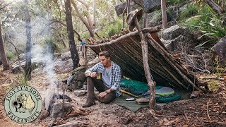 2 Night Aussie Bushcraft Camp- Natural Gunyah Shelter