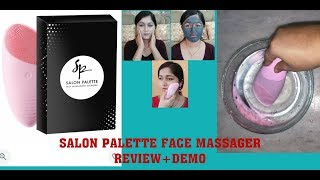 #SP Salon palette face massager REVIEW& DEMO/My summer skin care routine for pimple free face