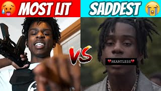 Rappers MOST LIT Song vs MOST EMOTIONAL Song!