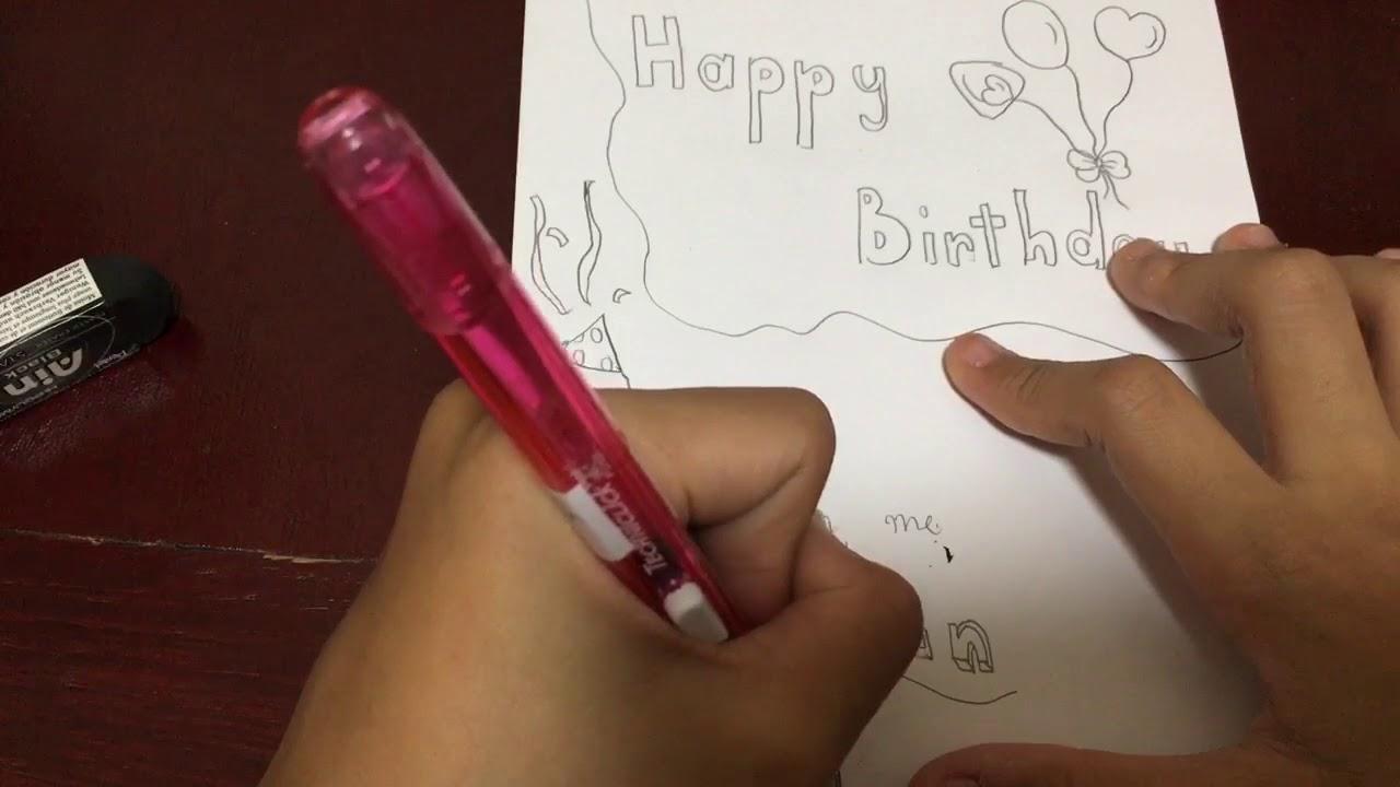 Hướng dẫn làm thiệp sinh nhật