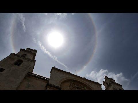 Embellece halo solar el cielo de Veracruz