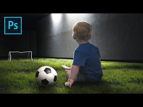Photoshop Tutorial - How to Make Photo Manipulation | Soccer Kids thumbnail