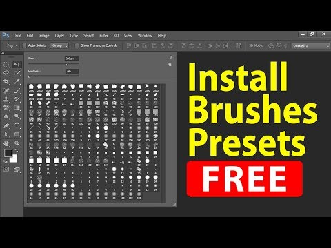 How To Download And Install Brushes Presets For Photoshop In Hindi.
