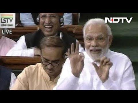 PM Modi Mocks Rahul Gandhi's Wink In Lok Sabha