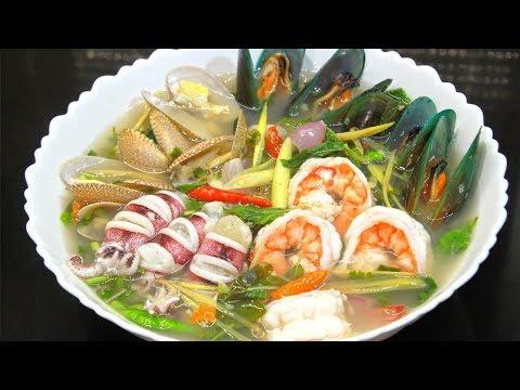 ต้มยำโป๊ะแตก ต้มยำน้ำใส แซ่บๆ หอมๆ Seafood Tom Yum l กินได้อร่อยด้วย