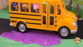 Slime School Bus ! LOL Surprise Doll Play Video - Cookie Swirl C Part 1