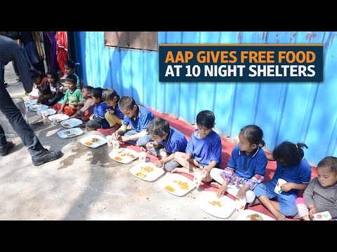 Free food for homeless at 10 night shelters in Delhi