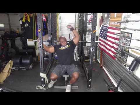 Brachialis biceps and triceps equals a big arm garage gym training