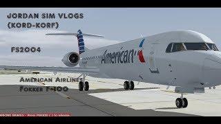 KORD-KORF (Chicago-Norfolk,VA) American Airlines Fokker F-100 (FS2004) DudeNation