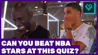 NBA Nicknames Quiz with Kevin Garnett & Jayson Tatum