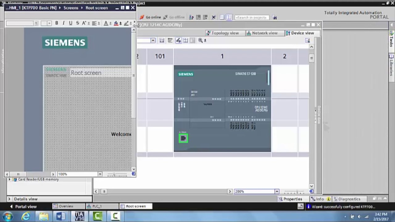 Networking the PLC and the HMI in Siemens TIA Portal V14 - Unit 5 1