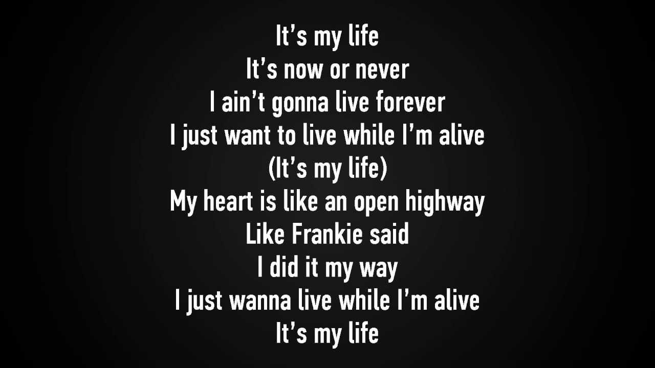 Bon Jovi - It's my life lyrics [HD] - YouTube