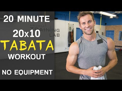 20 Minute Total Body Tabata Workout (NO EQUIPMENT)