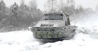 """Аэролодка """"Иноходец"""" по речным торосам Сибири"""