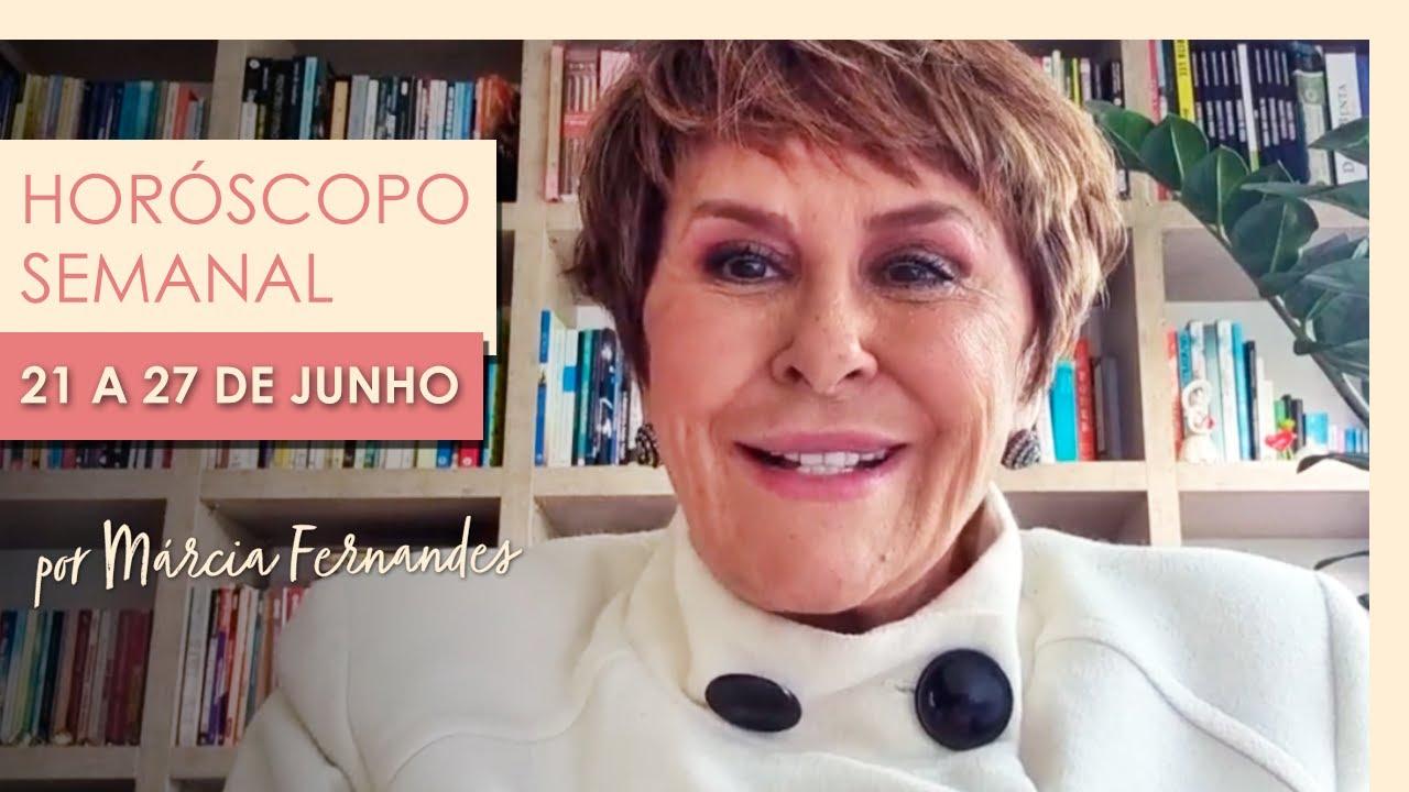 Horóscopo Semanal - 21 a 27 de Junho de 2021, por Márcia Fernandes