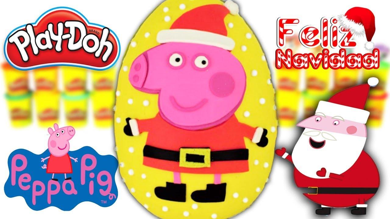 Huevo sorpresa gigante de peppa pig vestida de papa noel - Peppa cochon noel ...