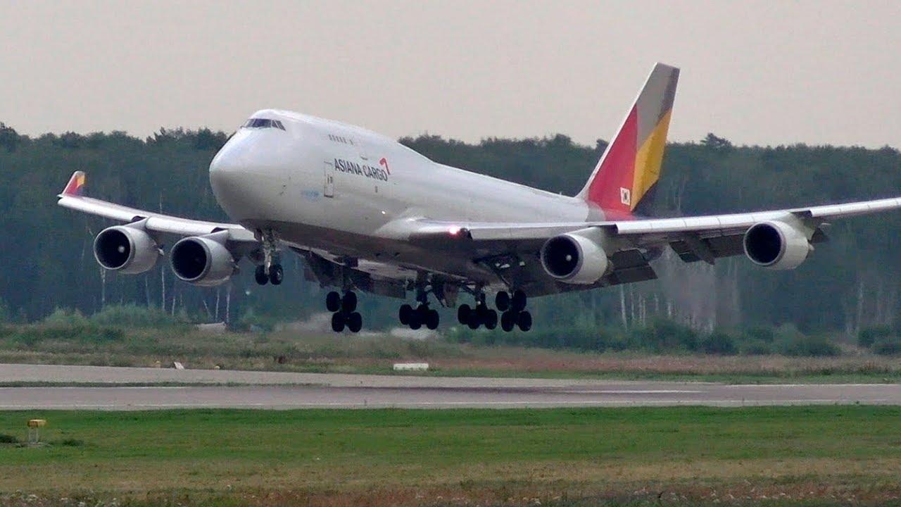 Гиганты в Домодедово. Боинг 747 - Посадки и взлет. Asiana Airlines 2020
