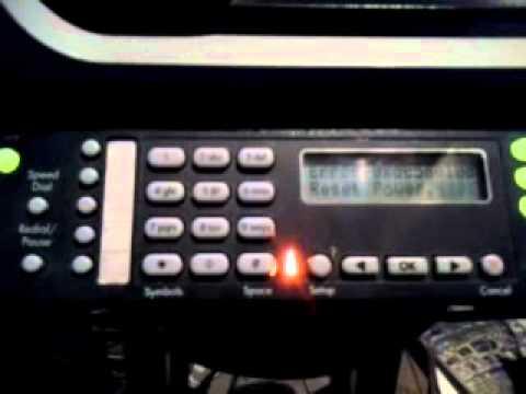 hp office jet. 5610 power reset error