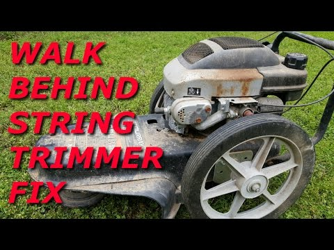 Walk behind string mower won't start. Tecumseh engine pt1.