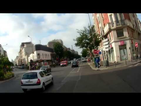 A vélo, sur le chemin du travail - On my way of work... biking Part 1