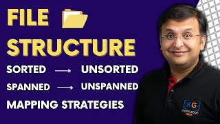 Part 5.2 File Structure in DBMS in HINDI | sorted unsorted spanned unspanned mapping strategies thumbnail