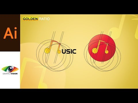 Adobe Illustrator | How to design a logo using golden ratio App Icon Design Music