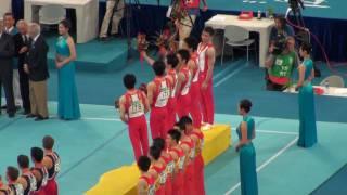 北京奥运会男子体操团体决赛颁奖式