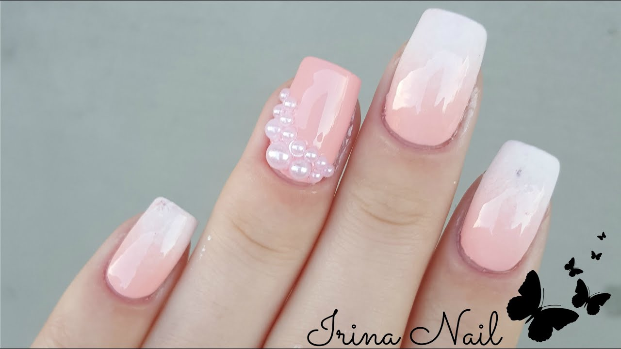 Babyboomer With Nail Polish Ombre French Irina Nail Youtube