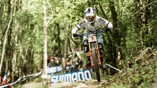 Rachel Atherton's Dominating Winning Run | UCI Mountain Bike World Cup 2017