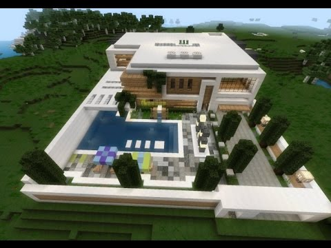 Casa moderna avan ada minecraft pe youtube for Casa moderna minecraft 0 12 1