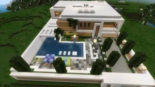Casa Moderna Avançada - Minecraft PE 0.12.1