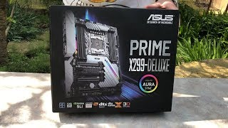 ASUS PRIME X299-DELUXE. Распаковка. (Unboxing)