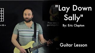 Lay Down Sally by Eric Clapton Tutorial