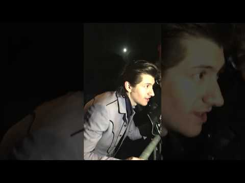 Alex Turner and Miles Kane (The Last Shadow Puppets) meeting fans in France