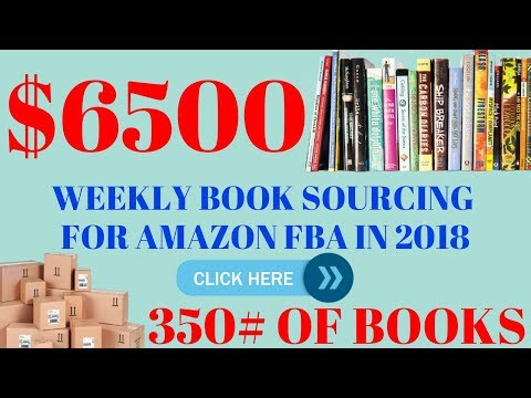 $6500 A Week Selling Books On Amazon In 2018 -  Book Haul Sales & Profits In Just One Week