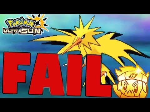 Shiny Zapdos FAIL.... Pokemon Ultra Sun and Pokemon Ultra Moon