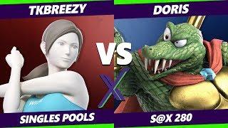 S@X 280 Smash Ultimate - VGBC | TKBreezy (Wii Fit Trainer) Vs. Doris (King K Rool) - SSBU Pools