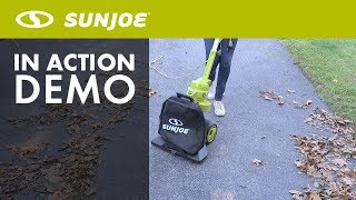 SBJ801E - Sun Joe 3-in-1 130 MPH Electric Walk-Behind Blower/Vacuum/Mulcher - Live Demo