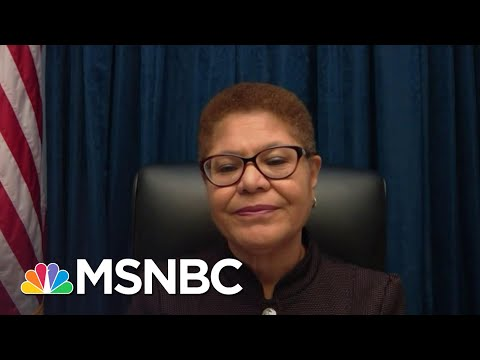 Rep. Karen Bass Can Only Imagine If 'They Had Been Black Lives Matter Protests' | Deadline | MSNBC
