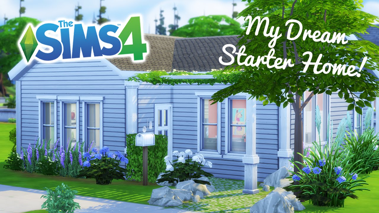 The sims 4 speed build my dream starter home youtube for Build my dream house