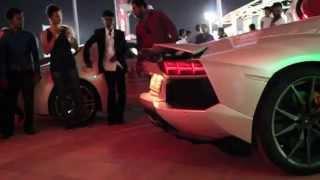 Lamborghini Aventador ,Taxi ,Flames, Exhaust Sounds, Dubai