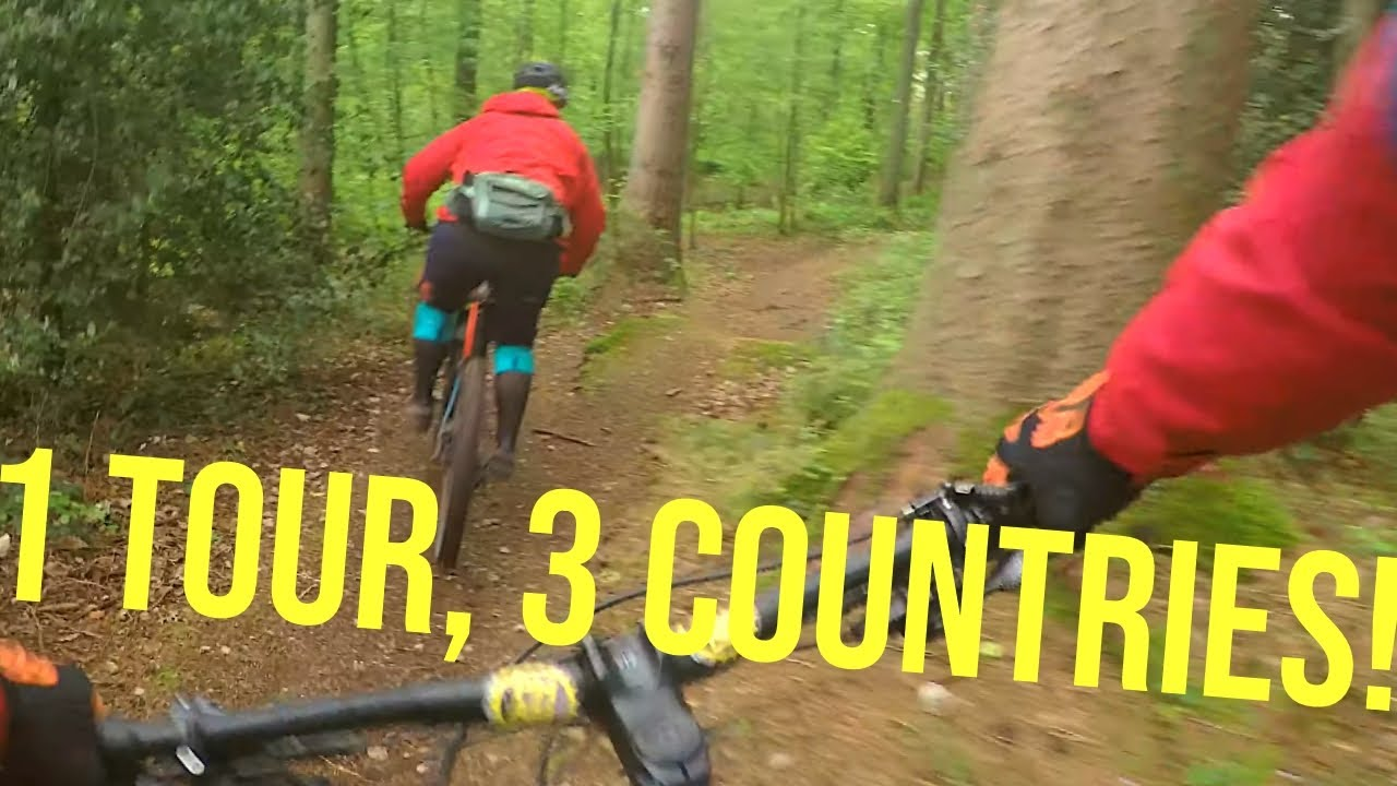 1 TOUR, 3 COUNTRIES: THIS IS EUROPE!! | Mountain biking Aachen MTB Trails