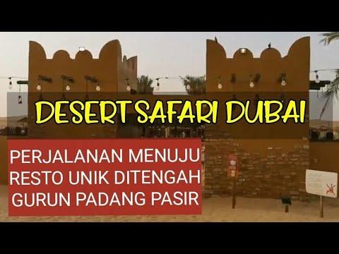 Perjalanan ke Desert Safari BBQ ditengah Padang Pasir yang gersang.