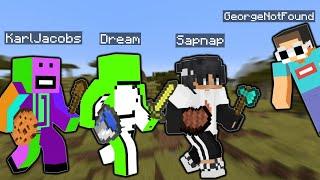 Sapnap speedrunning with Dream, George, and Karl!