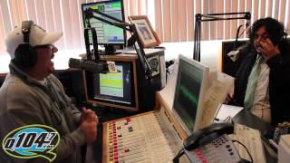 Felipe Esparza Interview With Q104.7's The Rico and Mambo Morning Show