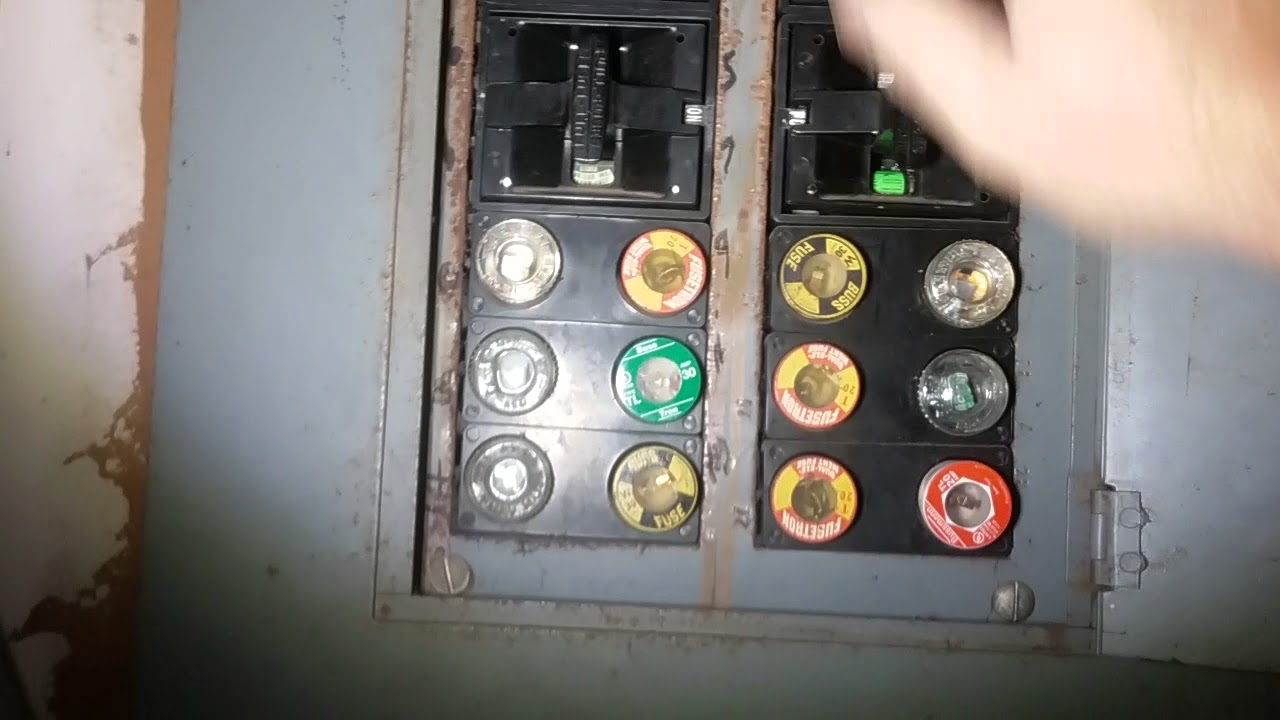 how to change fuses in an old home panel - youtube in home fuse box #14