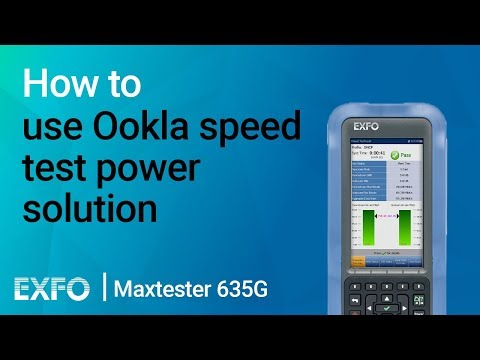 How to use Ookla speed test solution | Maxtester 635G