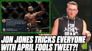 Pat McAfee Reacts To Jon Jones Trolling EVERYONE With April Fools Tweet